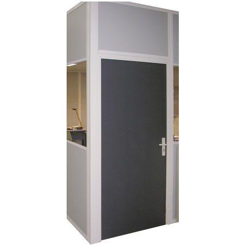 Draaideur voor werkplaatswanden in plaatstaal of melamine - Normaal paneel - Hoogte 3 m