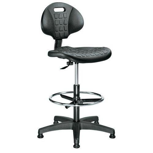 Ergonomische werkplaatsstoel - Hoog - Manutan