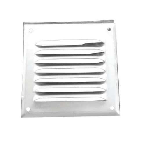 Grille alu persienne pour ventilation par 4 (100x100mm)