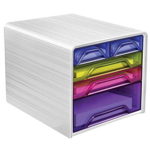 Opbergmodule met 5 laden in gemengde kleuren Smoove by Cep Bloc
