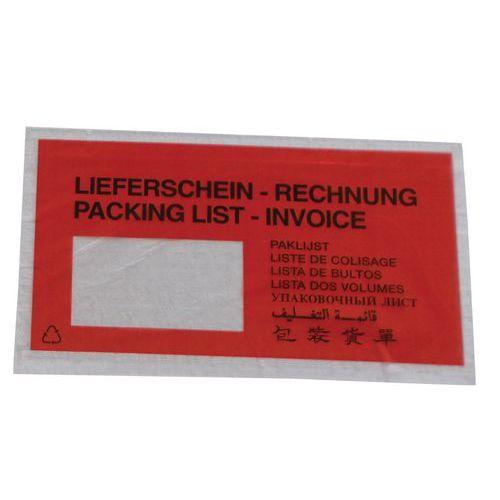 Pochette porte-documents Pac-List - « Lieferschein rechnung » 9 langues