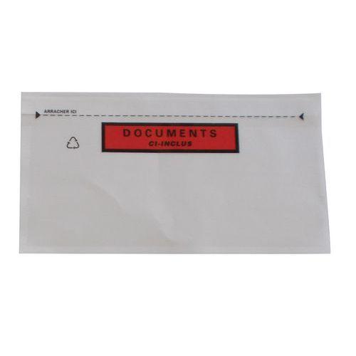 Paklijstenvelop Pac-List verstevigd - 'Document ingesloten'