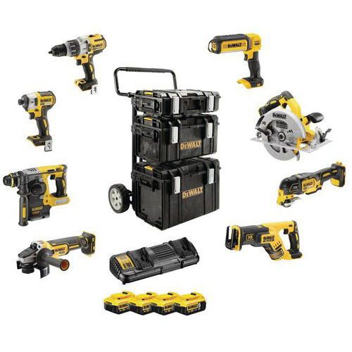 Kit Premium 8 stuks gereedschap XR-assortiment - 18 V - 5 Ah Li-ion