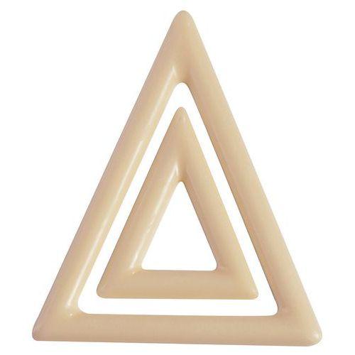 Vorm met driehoekversiering