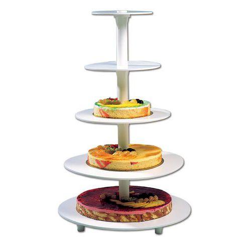 Verkoopstandaard voor ronde taartplateau