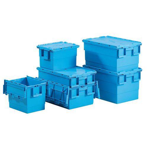 Transportbak Integra®  - Lengte 400 mm - Turquoise