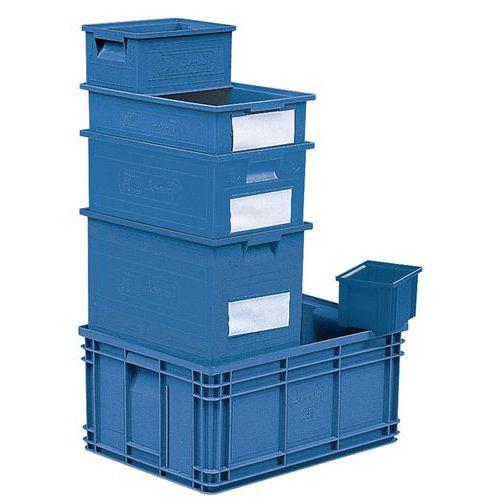 Bac gerbable - Bleu - Longueur 200 à 630 mm - 3,6 à 85 L