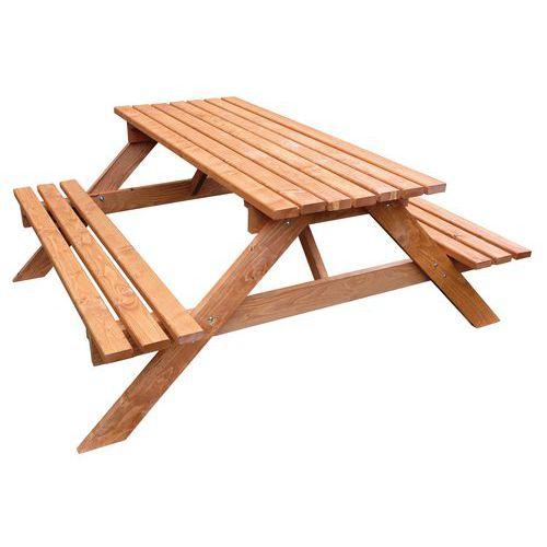 Houten picknicktafels