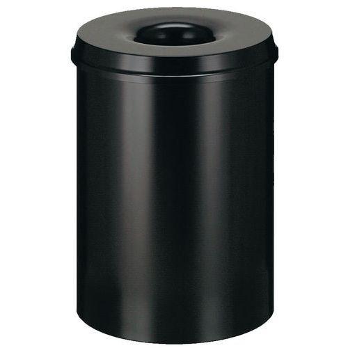 Prullenbak met vlamdover - 15 L