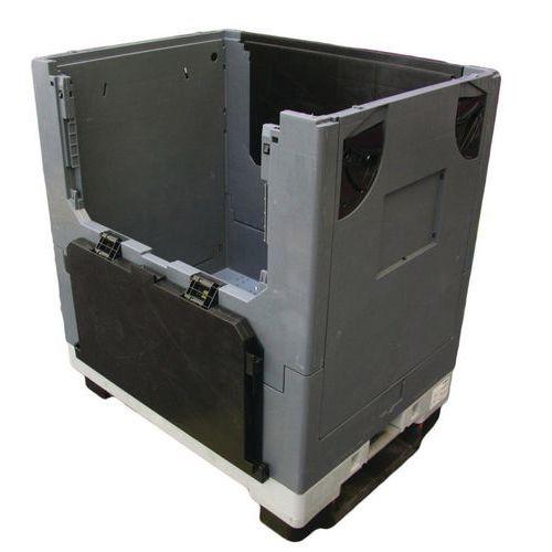 Caisse-palette mobile pliable Pally Magnum - 2 côtés rabattables