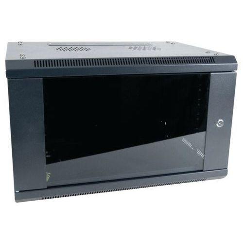 "Muurkast vast DEXLAN 19"" 9U prof 450 mm in kit (zwart)"