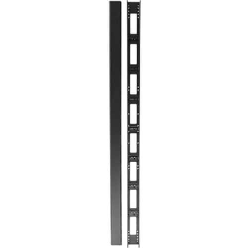 Kabeldoorvoer Verticale kast DEXLAN 800mm 32 U met kap zwart