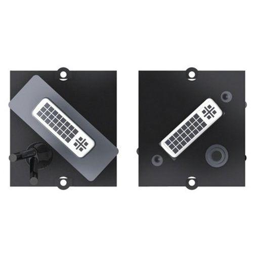 Afdekplaat BACHMANN DVI + audio jack 3.5 mm