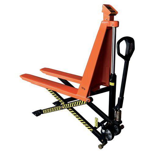Hoogheffende handpalletwagen met weegsysteem - Hefvermogen 1000kg