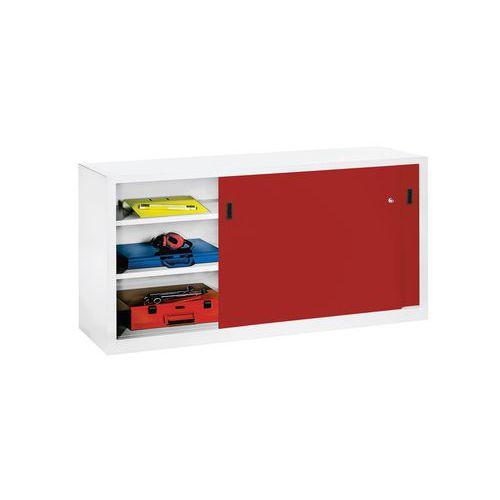 Armoire basse portes coulissantes largeur 200 cm for Armoire 100 cm porte coulissante