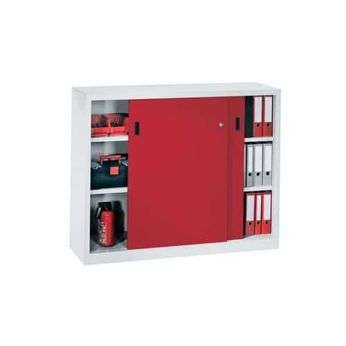 Armoire basse portes coulissantes largeur 100 cm for Porte accordeon largeur 60 cm