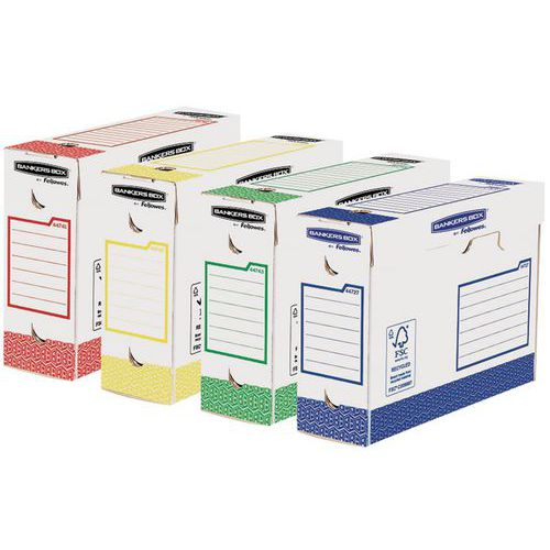 Archiefdoos Bankers Box Heavy Duty rug 10cm - Assorti - Set van 8