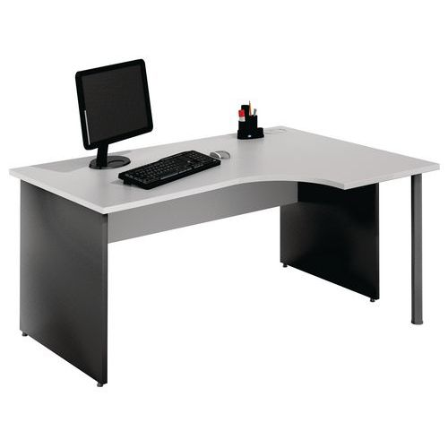 bureau compact pi tement panneau gris clair anthracite. Black Bedroom Furniture Sets. Home Design Ideas