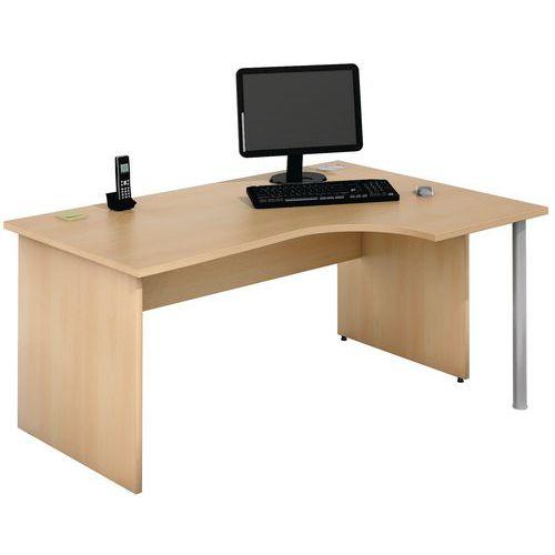 Compact bureau - Onderstel met wangen - Beuken - Manutan