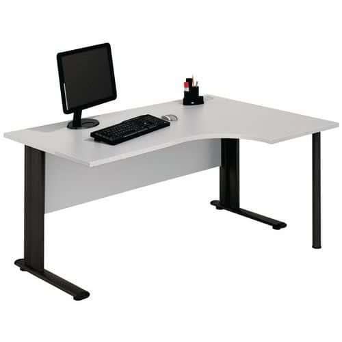 Compact bureau met C-poten - Lichtgrijs - Manutan