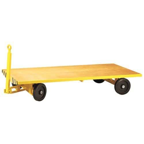 Aanhangwagen met enkel plateau - Laadvermogen 3000 kg - Plateau 1500 x 3000 mm