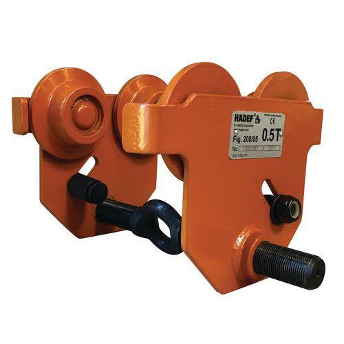 Handmatige loopkat - Hefvermogen 500 tot 1600 kg