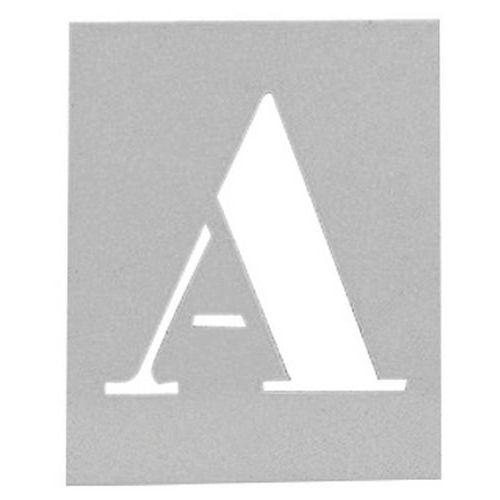 Pochoir en aluminium - Jeu de 26 lettres alphabétiques