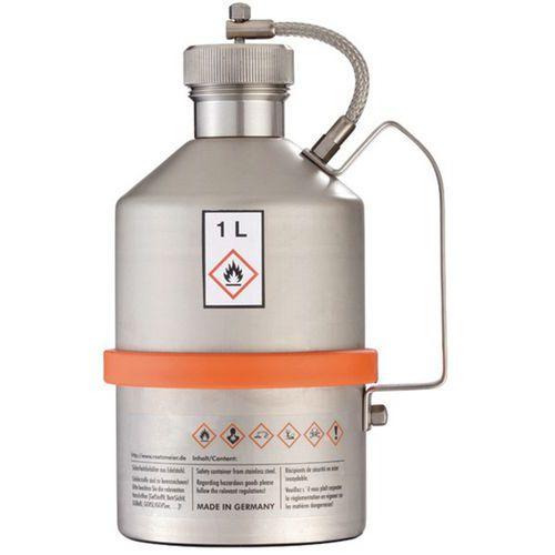 Veiligheidsbidon van rvs - Inhoud 1 tot 5 L