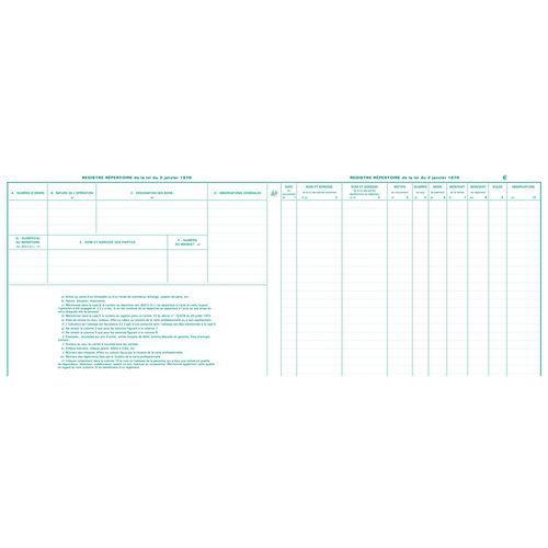 Staat 25x32 cm voor makelaars en verkopers, 80 pagina's