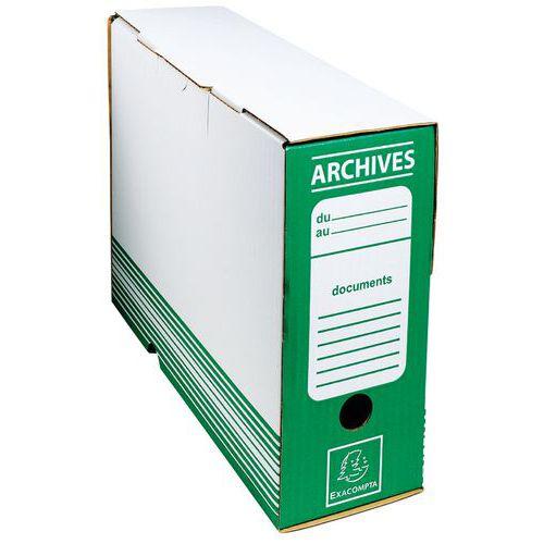 Archiefdoos golfkarton rug 100mm 25x34cm (vlak geleverd)