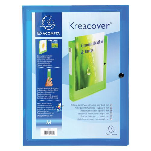 Archiefdoos kreacover® 5 st. chromaline pp 7/10 rug 40mm A4