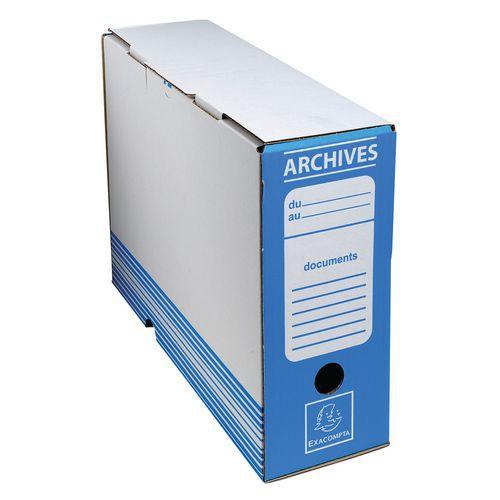 Boite archive dos 100mm carton ondulé couleurs - 25x34cm