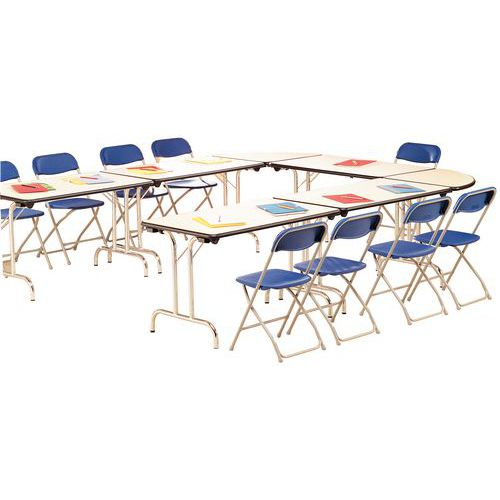 table modulaire pliante pi tement chrom demi cercle. Black Bedroom Furniture Sets. Home Design Ideas