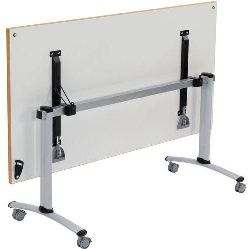 Mobiele tafel met inklapbaar, rechthoekig blad - Lichtgrijs