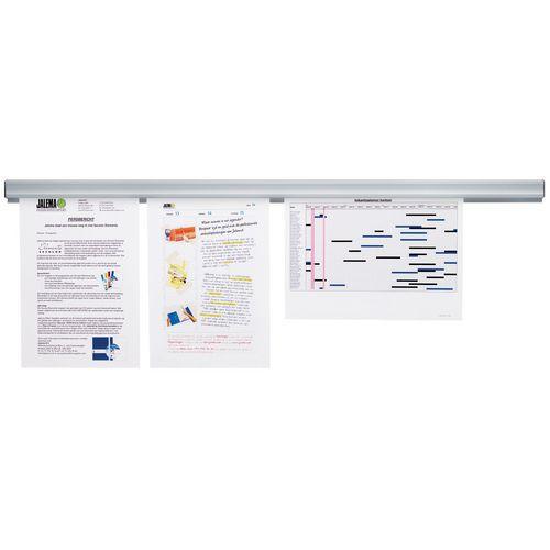 Rail de présentation Jalema Grip-a-Strip - Magnétique