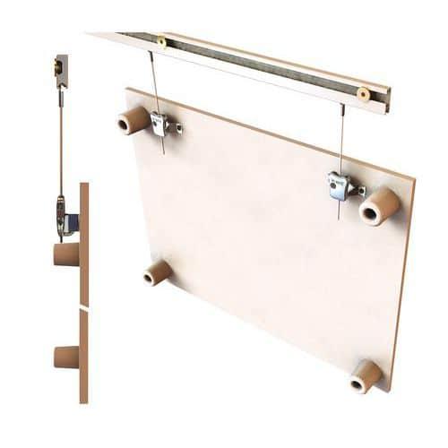 jeu de suspension pour cadres et tableaux magn tiques. Black Bedroom Furniture Sets. Home Design Ideas