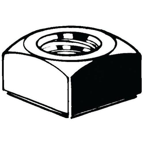 Vierkantmoer DIN557 Staal Rechts Blank 5_11120