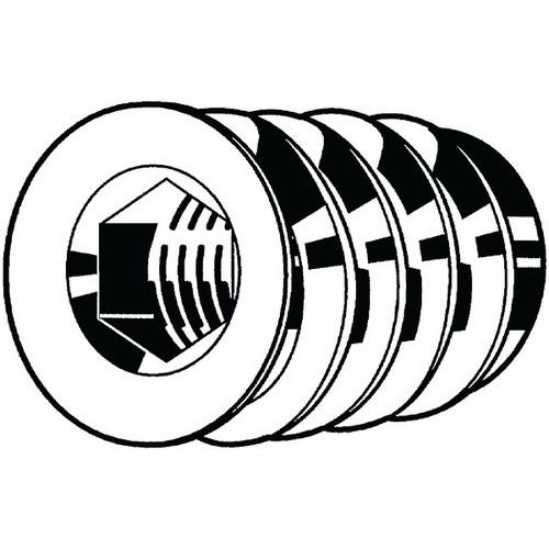 Inschroefmoer met kraag en binnenzeskant type SKD verzinkt staal_14440