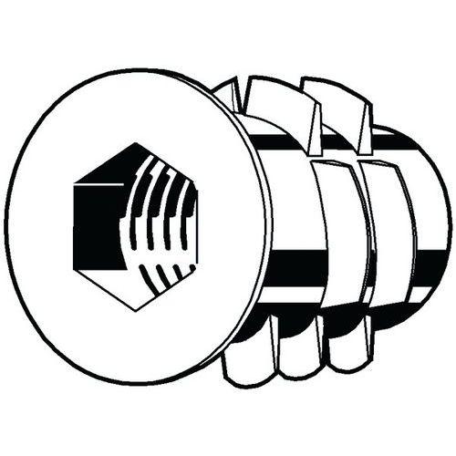 Inschroefmoer met kraag en binnenzeskant type SKDZ Gietzink_14446