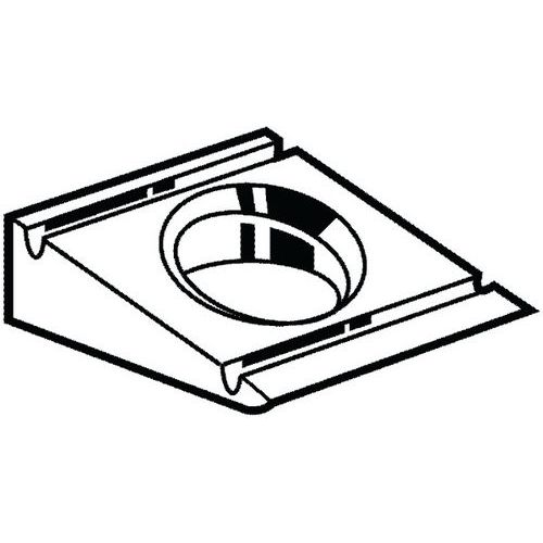 Hellingplaat 8% voor U-profiel Staal HV10 Thermisch verzinkt _38490