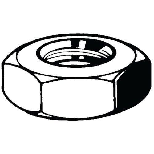 Zeskantmoer laag ISO-Metrisch Staal Thermisch verzinkt 04_01586