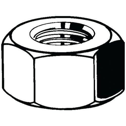 Zeskantmoer linkse schroefdraad DIN 934 verzinkt staal 8_11042