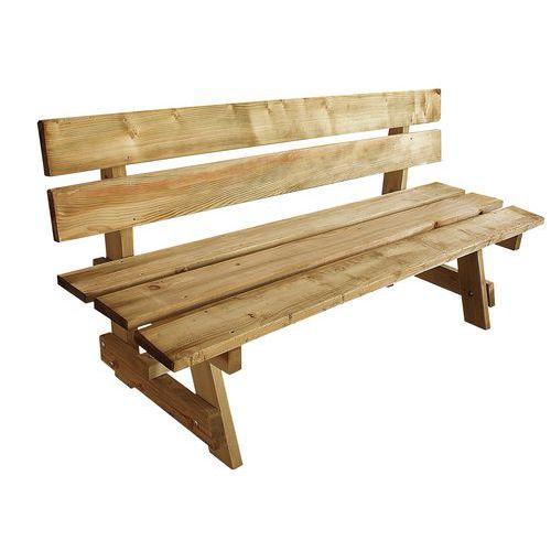 Buitenbank in Scandinavisch hout