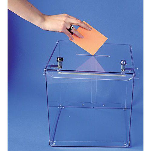 Stembus transparant - 600 stembiljetten