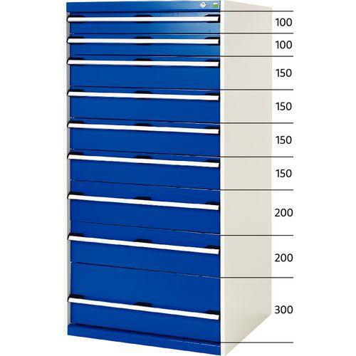 armoire d 39 atelier tiroirs bott sl 87 hauteur 160 cm. Black Bedroom Furniture Sets. Home Design Ideas