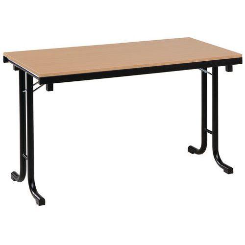 Table pliante rectangle m lamin e pmr pi tement en t l 120 c - Table bureau pliante ...