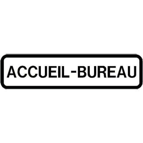 Panneau Directionnel Grande Hauteur Standard Accueil Bureau Longueur 1000 Mm