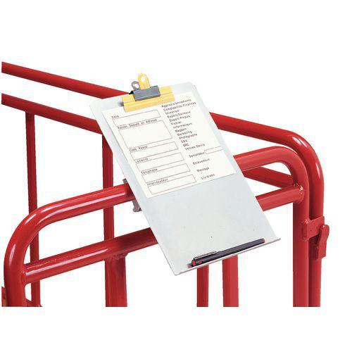 Schrijfbord voor plateauwagen met draagvermogen 500 kg