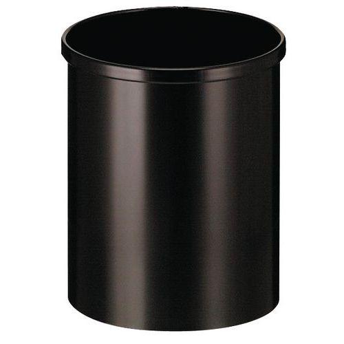 poubelle ronde en m tal 50 l. Black Bedroom Furniture Sets. Home Design Ideas