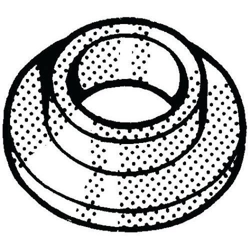 Sluitring met kraag Kunststof Polyamide (nylon) 6.6_56710